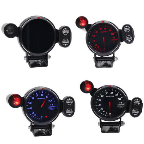 """Hot Tachometer Gauge Kit LED 3.5/"""" Auto Meter with Shift Light+Stepping Motor RPM"""