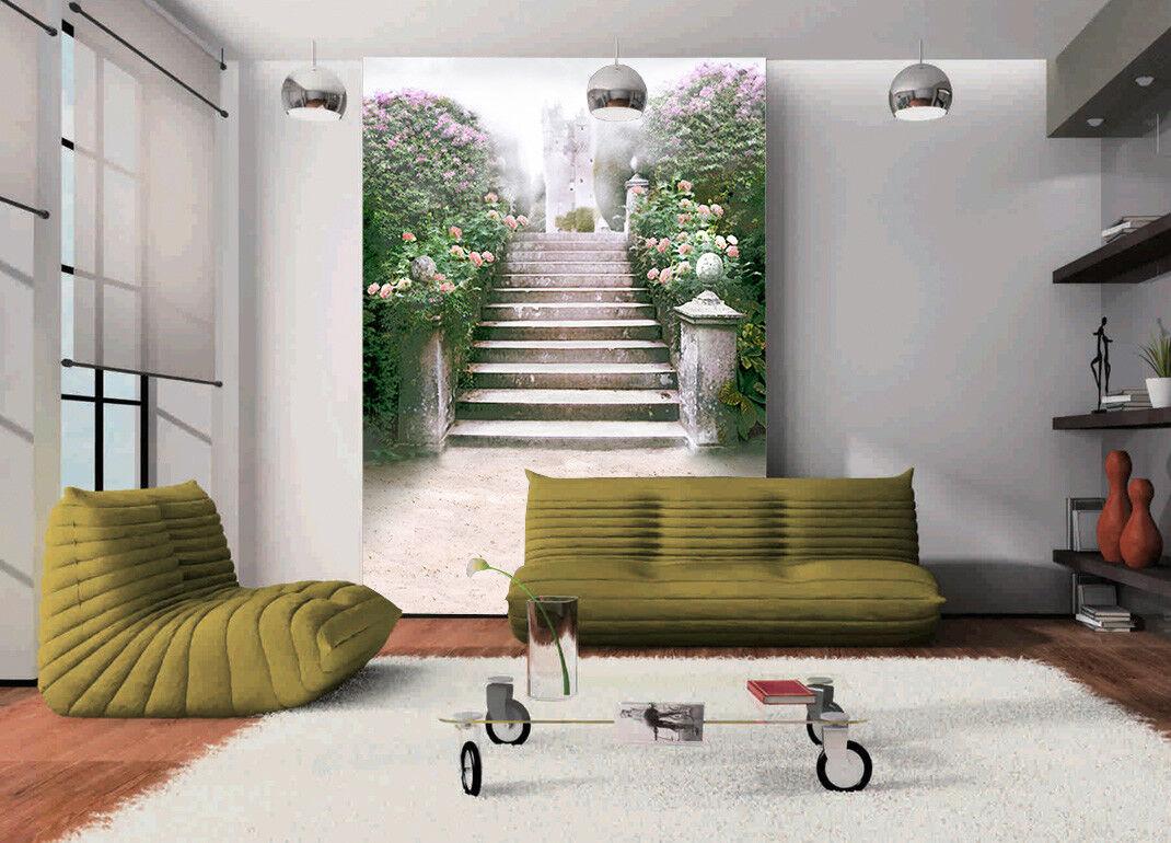 3D Rosan Blaume Treppe 8 Tapete Wandgemälde Tapete Tapeten Bild Familie DE Summer | Konzentrieren Sie sich auf das Babyleben  | Günstige Bestellung  | Ausreichende Versorgung