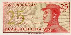 Indonesia-1964-25-Sen-UNC-CF2018
