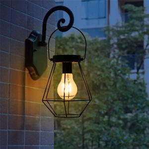 Solare-Appeso-Luci-Retro-Metallo-Lanterna-Lampada-Giardino-Esterno-Cortile-Patio