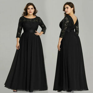 Ever-Pretty-US-Plus-Size-Black-Formal-Evening-Gown-Mother-Of-Bride-Dress-07412