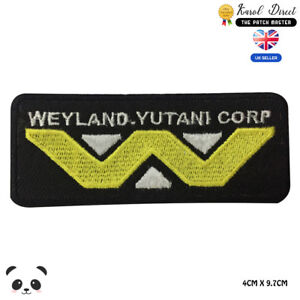 Weyland-yutani-Corp-Embroidered-Iron-On-Sew-On-Patch-Badge-For-Clothes-etc