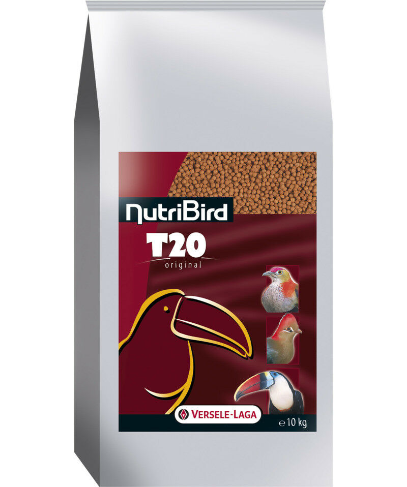 2 Pezzo Nutribird T20 Originale, 2 x 10 kg, Zuchtfutter per Tucani, Turakos