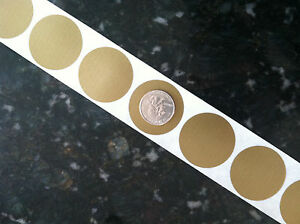 """1250 Round 1.5"""" inch GOLD SCRATCH OFF STICKERS LABELS Tabs TICKET GAME FAVOR"""