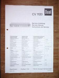 Anleitungen & Schaltbilder Service Manual Für Dual Cv 1120 Verstärker,original Ohne RüCkgabe