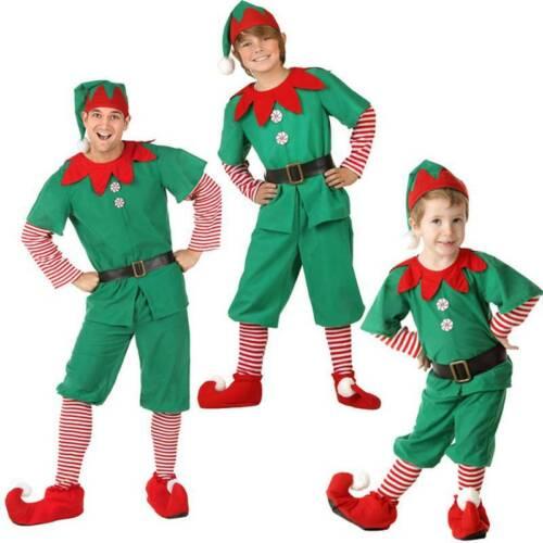 Details about  /Christmas Kids Girls Elf Santa Claus Festival Xmas Elk Party Dresses Swing Dress