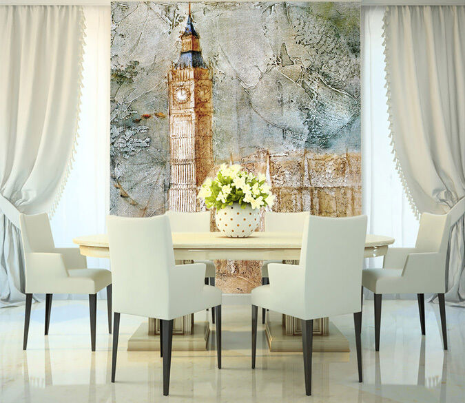 3D Tower Painting 1 WallPaper Murals Wall Print Decal Wall Deco AJ WALLPAPER
