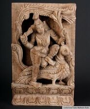 Indien 20. Jh. Holzrelief - Carved Wood Panel Subramanya South India Inde du Sud