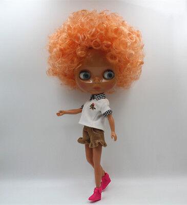 """Takara 12""""Blythe Nude Doll from Factory No.532 Heather Sky Blythe's Dark Skin"""