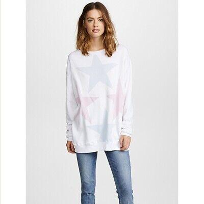 Wildfox Women/'s Sweater Star Crossed Oversized Sweatshirt in White Sizes XS /& S
