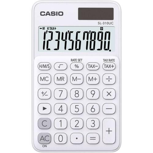 CASIO Calcolatrice Solare /& Batteria SL-310UC BIANCA Big Display *Sped.Tracciata