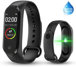 Bluetooth Smart Watch Fitness Tracker Sport Uhr Puls Armband Wasserdicht NEU