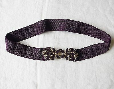 2019 Neuestes Design Cool Pretty Purple Elastic Stretch Belt Enamelled Clasp S/m Goth Party Clubbing