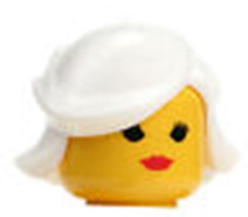 WHITE HAIR FEMALE GIRL PRINCESS  FOR LEGO MINIFIGURE NEW