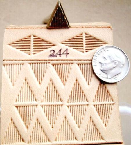 KELLY MIDAS PROFESSIONAL TOOL # 244 PYRAMID STAMP Midas Leather Stamp Craft