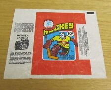 1976-77 OPC WHA Hockey Card 10 Cent Wonder Camera Original Wrapper Vintage