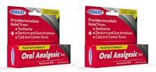 2 X .42 oz Tube Toothache Benzocaine 20% Maximum Strength Oral Analgesic Gel