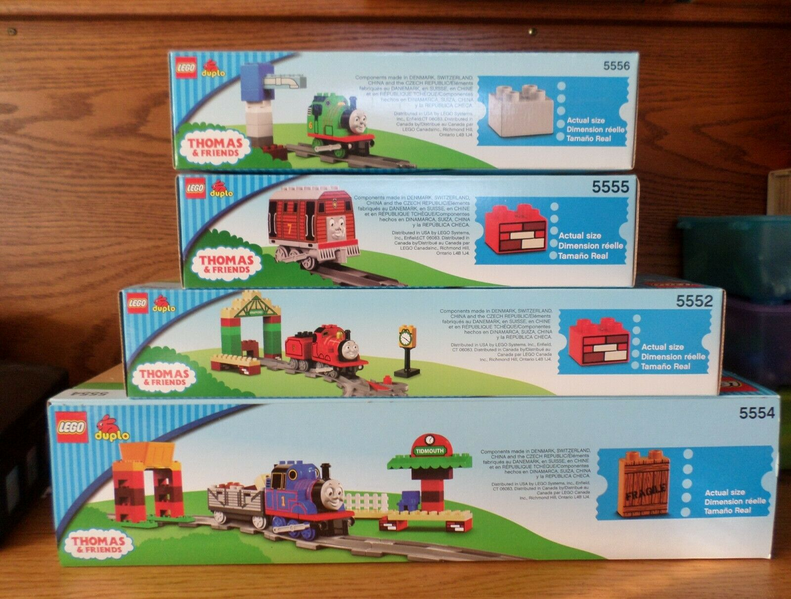 Sealed REAR set of 4 LEGO DUPLO  THOMAS  & FRIEND TRAIN SETS 5554,5552,5555,5556  magasin d'offre