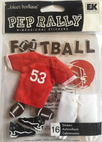 Jolee/'s Boutique-Pep Rally Red Football Uniform-Dimensional Stickers