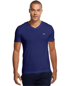 f7954d3564c6 New Lacoste Men's Sport Short Sleeve Pima Cotton Jersey Vneck T ...