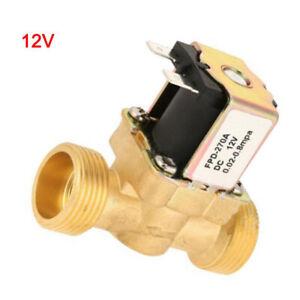 Elektrisches Magnetventil 1//2DC 12V Elektrisches Magnetventil aus normal geschlossenem Messing f/ür die Wasserregelung
