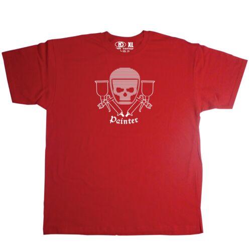 Spray Painter Tribal Tattoo Skull T Shirt