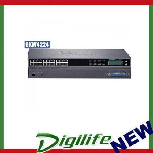 Grandstream GXW4224 VoIP gateway w/ 24 telephone FXS ports