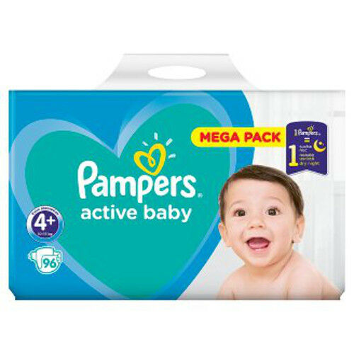 Pampers 4+ Windeln 10-15kg Active Baby Versch 96-576 Windeln//Packung Optionen