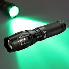 Green Light T6 LED Flashlight Zoomable 800LM CREE XM-L  Focus Torch 18650/AAA