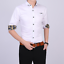 Business-Office-Work-Men-Casual-Stylish-Slim-Fit-Short-Sleeve-Shirt-Tops-Blouse thumbnail 5