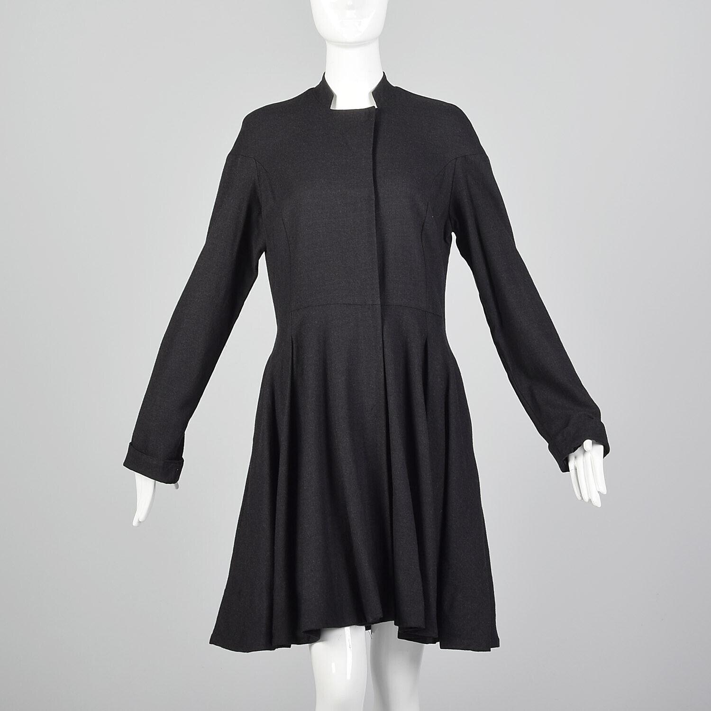 Medium Gary Graham 2000s Wool Princess Coat Charc… - image 3