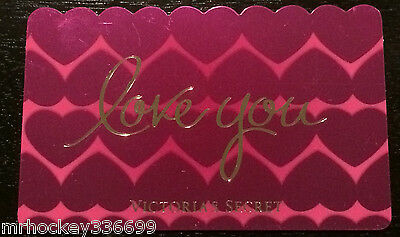 Victoria/'s Secret Canada Valentines LOVE YOU Collectible Gift Card French//Eng