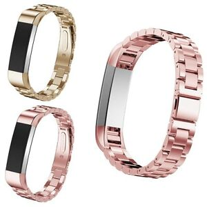 Acero Inoxidable Reloj Banda Correa de Reemplazo de metal para Fitbit Alta & HR