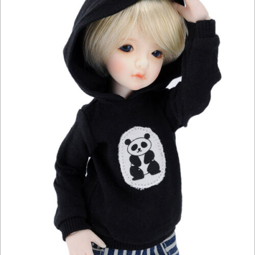 Dollmore BJD outfits Size Narsha Cute Bear Hood T Black