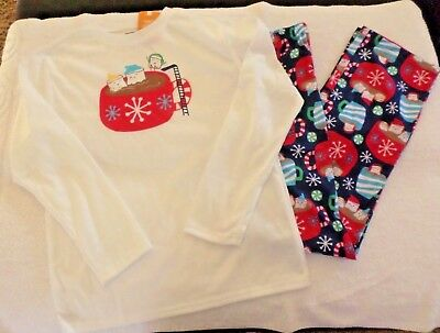 Gymboree Gymmies SWEET DREAMS Hot Cocoa Pajamas Winter Christmas Sz 7 8 10 12