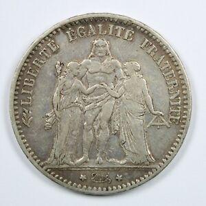 Piece-Argent-5-francs-Hercule-Annee-1875-Atelier-A-Paris-Silver-coin-France