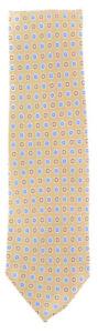 "New Finamore Napoli Light Brown Foulard Tie - 3.25"" x 58"" - (TIEFCYX236)"