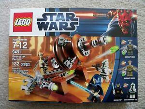 LEGO-Star-Wars-Rare-9491-Geonosian-Cannon-w-Gree-amp-Zombies-New-amp-Sealed