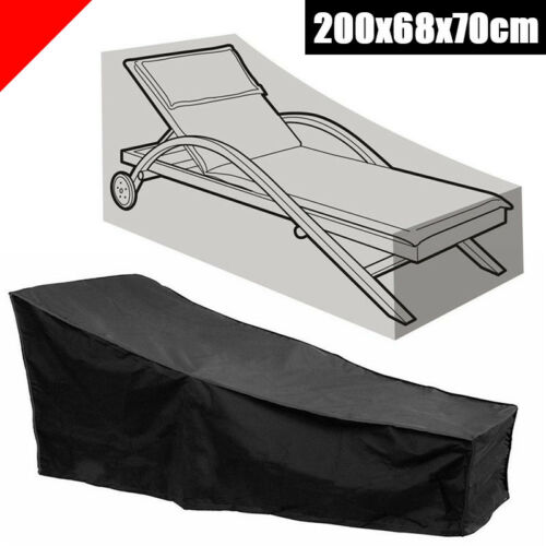2M//79in Chaise Lounge Cover Lounge Chair Furniture Cover Sun Recliner Bed Garden