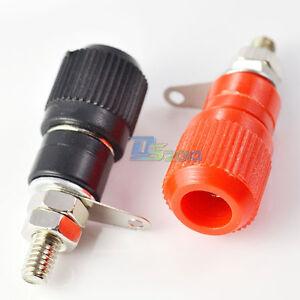 2pcs  Amplifier Terminal Binding Post Banana Plug Jack Panel mount Lager Size,,