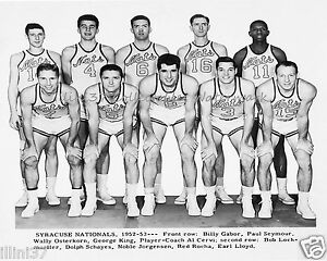 1952 53 Syracuse Nationals Nba Basketball 8x10 Team Photo Cervi 6fffb4123