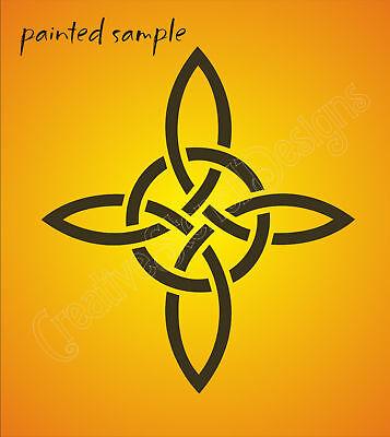 Stencil Celtic Knot Circle Chain Weave Irish Decor