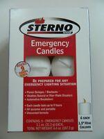 Sterno Mini Column Long Burning Candles, 6 Pack, Emergency, 9 Hr Burn, Unscented