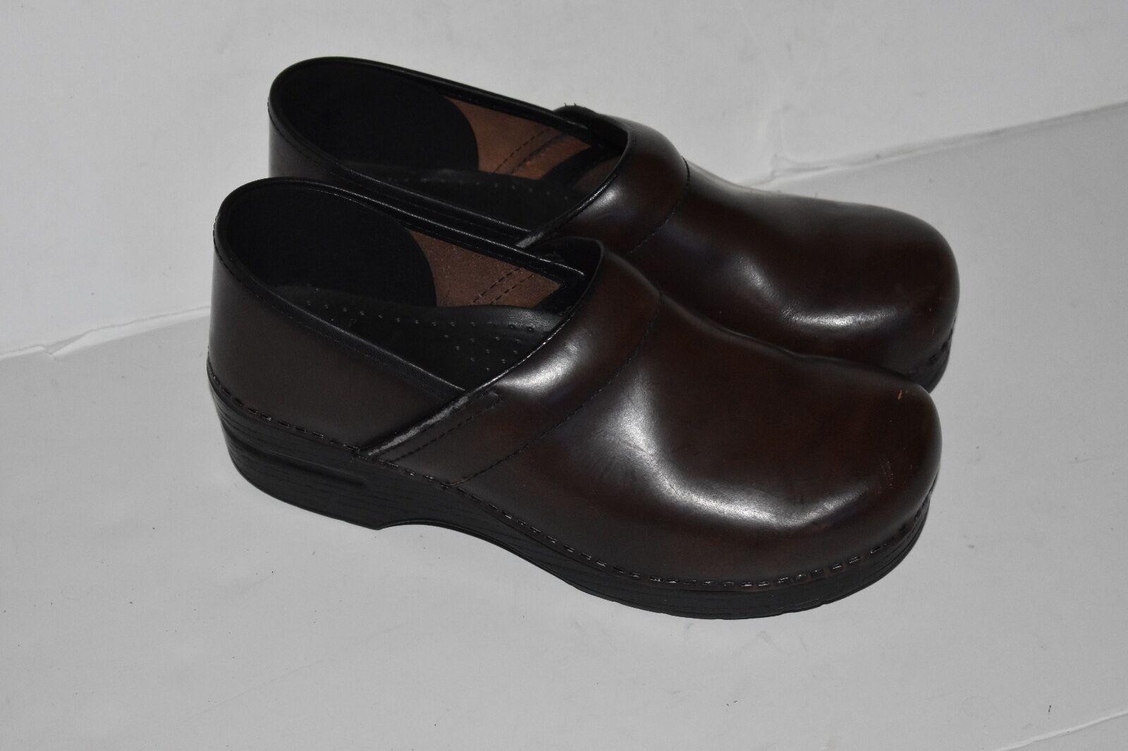 Dansko Women Brown Leather Professional Clog Shoe sz 40