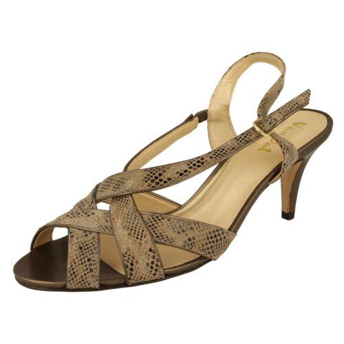 Peep Taupe Ladies Sling Stampa Van Sandali rettile Dal Shop Soiled Toe Back Rushall WWX6n