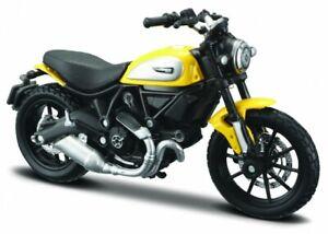 ducati scrambler schwarz-gelb maßstab 1:18 Motorrad Modell von maisto