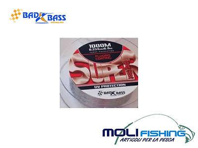 NYLON PER MULINELLO BAD BASS SUPER LONG CAST 1000 M PESCA SURFCASTING FONDO