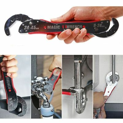 Durable Rust Resistant Adjustable Spanner Tools Universal Wrench Pipe Home Hand Tool for DIY Industrial Plumbing Works Carpentry /& Mechanical Tasks Etc. Multi-Function Wrench Non-Slip Handle