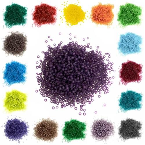 Farben Farbwahl Bohrung 0,8mm 10g Rocailles Glasperlen rund 12//0 2x1,5mm