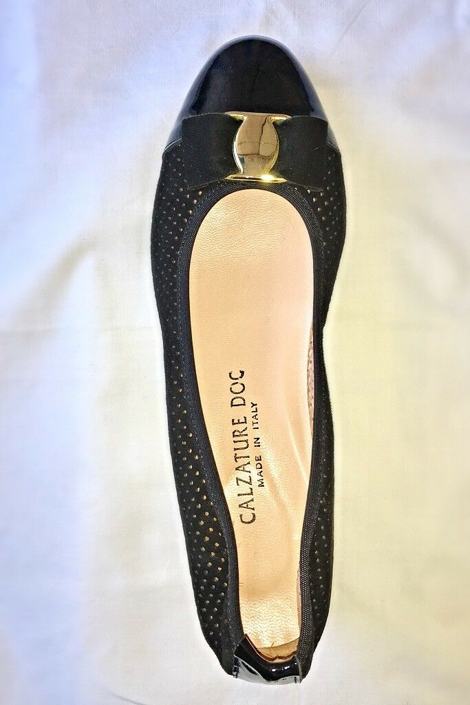 Damens's Made in  Pierced Pumps Italian Leder Leder Italian Suede Niedrig Heels UK5 / EUR 38 0b2645